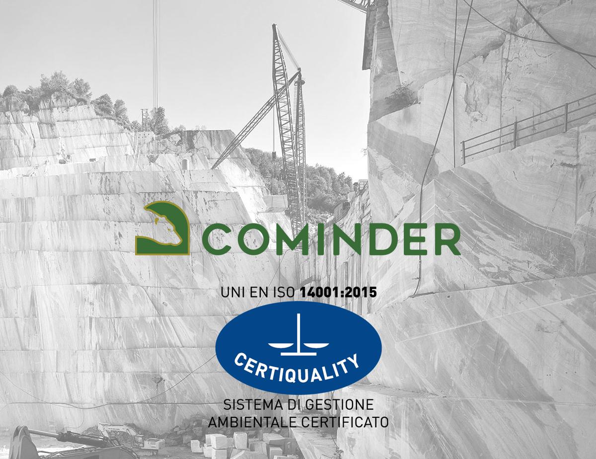 Cominder srl è un'azienda certificata UNI EN ISO 14001