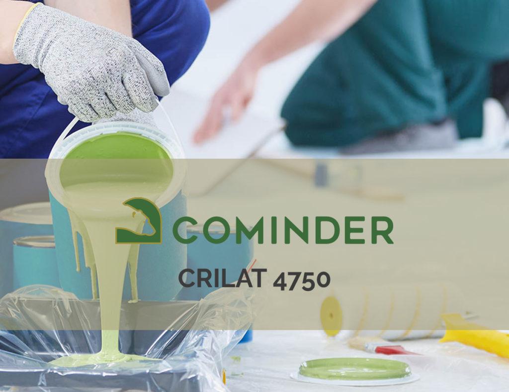 CRILAT 4750, emulsione perfetta per vernici ad alta resistenza