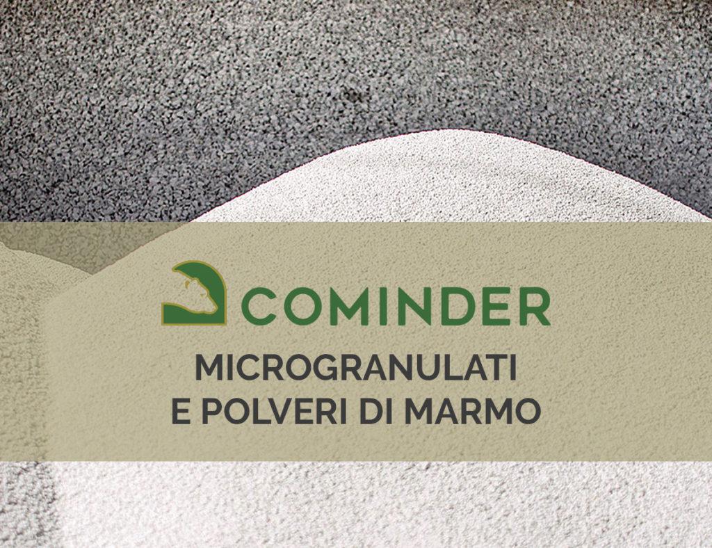 Cominder distribuisce microgranulati e polveri di marmo